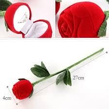 box cincin merah romantis hadiah cincin kasus untuk pacar merah bentuk