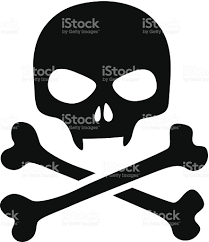 skull icon isolated black skull with vampire fangs stock vector
