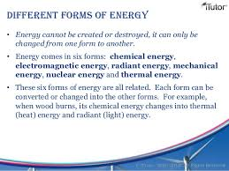 is light a form of energy forms of energy