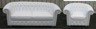 canapé chesterfield cuir blanc techni salons nos travaux récents