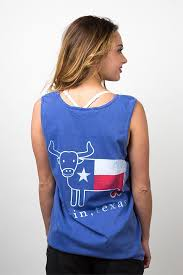Comfort Colors Tank Tops Comfort Colors Collection Austin Texas Flag Steer Tank