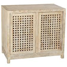 small 2 door cabinet kismet coastal beach mango driftwood latticework 2 door cabinet