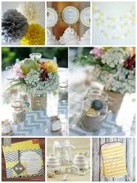 yellow and gray baby shower decorations bumble bee baby shower inspiration boards