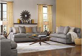 Rooms To Go Living Room Furniture by Cindy Crawford Home Palm Springs Gray 8 Pc Living Room