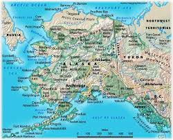 us political map alaska alaska highway united states and canada building the world