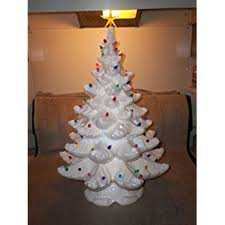 beautiful design ceramic trees white tree with lights