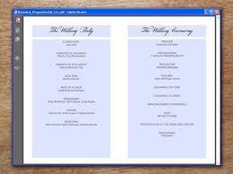 Printable Wedding Programs Printable Wedding Program Botanical U2013 E M Papers