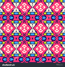 Tribal Print Wallpaper by Tribal Art Bohemian Print Mexican Geometric Stock Vector 442275037