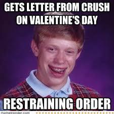 Meme Brian - bad luck brian letter on valentine s day meme shuffle