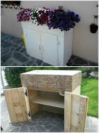 diy pallet toolbox and planter box picture rustic barn wood 30quot