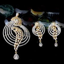 zirconia necklace set images Vivah creation cubic zirconia pendant set rs 1142 set id jpg