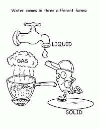 Coloring Page Water Cycle 514419 H2o Coloring Pages