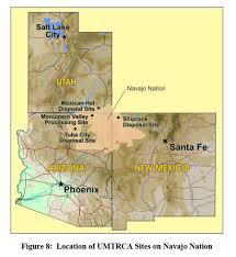 Navajo Reservation Map Agencies Cite Progress Work Still Remaining On Navajo Uranium Cleanup