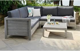 Wooden Furniture Sofa Corner Lodge Wooden Garden Sofa Set
