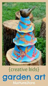 Decorating Clay Pots Kids Toddler Crafts Clay Pot Resist Art Garden Sculpture Kids Garden