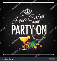 keep calm party on mardi gras stock vector 174901724 shutterstock