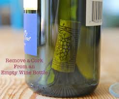 how to get a cork out of an empty wine bottle 6 steps with