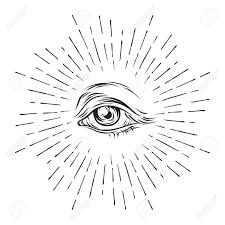 grunge sketch eye of providence masonic symbol all