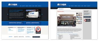 web design news boyer protection s new website design launches visual lure