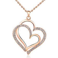 swarovski gold necklace crystals images Swarovski heart necklace ebay jpg