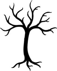 black tree clip at clker vector clip royalty