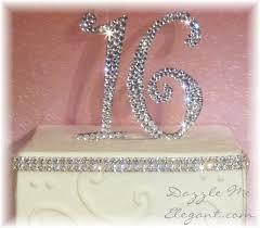 16 cake topper rhinestone birthday rhinestone anniversary cake