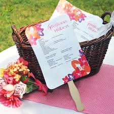 how to make fan wedding programs designer wedding fan program paper kit set of 50