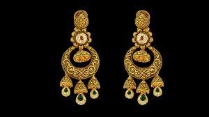 gold earrings for wedding designer bridal gold earrings