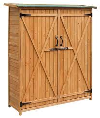 Lockable Medicine Cabinet Nz by Amazon Com Merax Wooden Outdoor Garden Shed With Fir Wood Medium