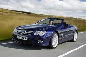 opal car mercedes benz sl class convertible 2002 2011 driving