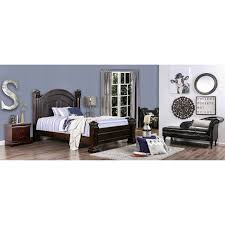 Bed Frames Ta Furniture Of America Tasine Cherry Four Poster Bed Free Shipping