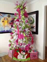 my white tree with pink and light green decorations already