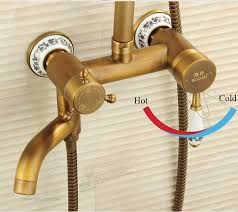 Quality Faucets European Luxurious Antique Shower Faucet With 8 Inch Shower Head