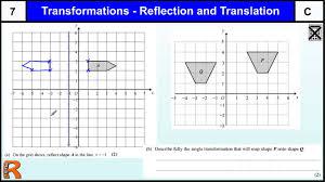 transformations gcse maths higher u0026 foundation revision exam paper