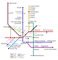 Hilliard Ohio Map Columbuslightrail
