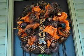 How To Make Halloween Wreaths by Wwwetsycomlisting103325491handmade Front Door Deco Mesh Halloween In