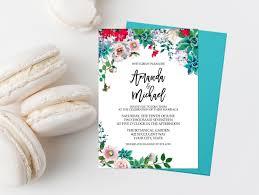 Succulent Wedding Invitations Succulent Wedding Invitation Suite Printable Cactus Wedding Invite