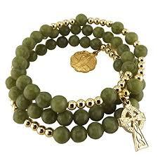 connemara marble rosary connemara marble gilt coil rosary bead bracelet