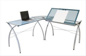 office table glass l shaped desk office max glass office desk