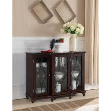table with glass doors dark brown cherry wood console table with glass doors free