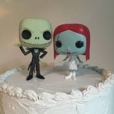 nightmare before christmas cake decorations custom funko pop and sally wedding cake topper set disney s