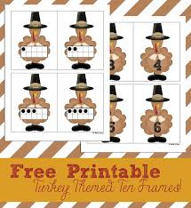 free printable turkey ten frames