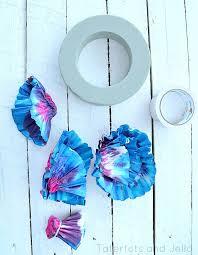 wreath supplies make a summer diy tie dye coffee filter wreath tatertots and jello
