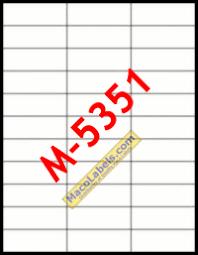33 Labels Per Sheet Template by 33 Labels Per Page Laser Labels Copier Labels Maco M 5351
