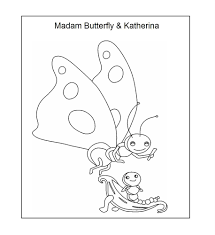 octopus coloring page madame butterfly and katerina coloring printable page