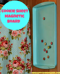 diy cookie sheet magnetic board u2013 mrs happy homemaker