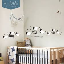 Sheep Nursery Decor Baby Nursery Decor Decals On The Wall Jumping Animals Sheep