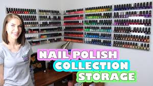 nail polish collection storage acrylic wall racks youtube
