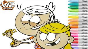 the loud house coloring book pages lincoln lola rainbow splash