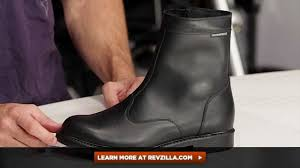 waterproof leather motorcycle boots tcx urban waterproof boots review at revzilla com youtube